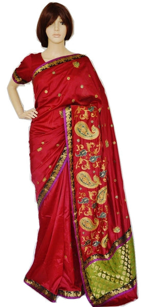 Designer Partywear Saree With Pre stitched Blouse