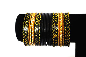 Set Of 24 Metal Bollywood Jewellery Bangles