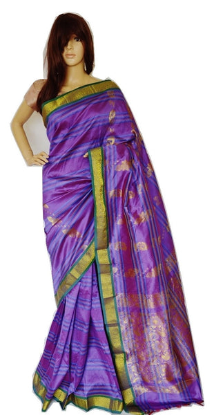 Light Purple & Green  Colour  Anjali Silk Saree