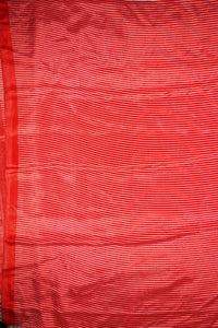 Gorgeous Red,Yellow Flower Print T-20 Crepe Silk Saree