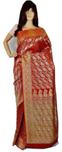 Banaras Saree With Attached Blouse piece