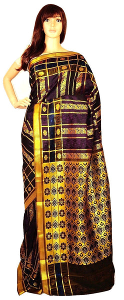 Plum  & Gold Colour Kanchipuram Silk  Saree