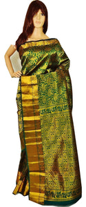 Green & Gold Kanchipuram Pattu Silk Saree