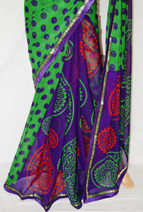 Indian  Designer Half And Half Fancy Saree