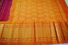 Maroon,Mustard & Gold Kanchipuram Pattu Silk Saree