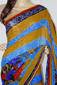 Exclusive Tissue Crush Fancy Saree
