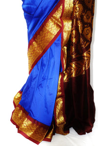 Blue & Maroon  Aparna  Silk Saree
