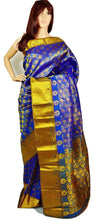 Blue & Gold Kanchipuram Pattu Silk Saree