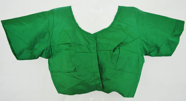 Green Colour Kanchipuram Blouse Size 40