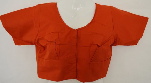 Orange Colour Kanchipuram Blouse Size 36