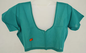 Sea Blue Colour Saree Blouse  Size 38
