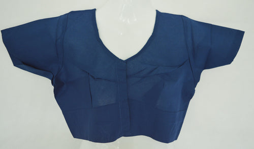 Dark Blue Colour Saree Blouse Size 36