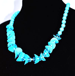 Fashion Beautiful Blue Necklace