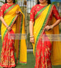 Yellow & Red Beautiful Designer Saree