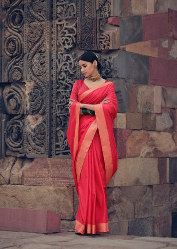 Red Colour Victoria silk Saree