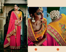 Rich Look Red Silk Saree With Grand Work Blouse Piece