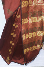 Brown Colour  Kanchipuram Silk Saree