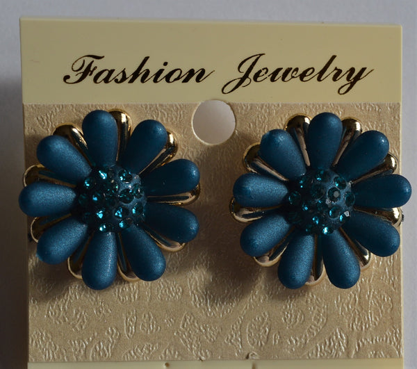 Teal Colour Jewellery Earrings