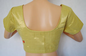 Gold Brocade Blouse Size 38