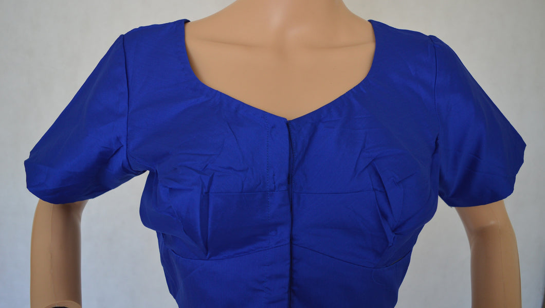 Blue Colour Kanchipuram Blouse Size 40