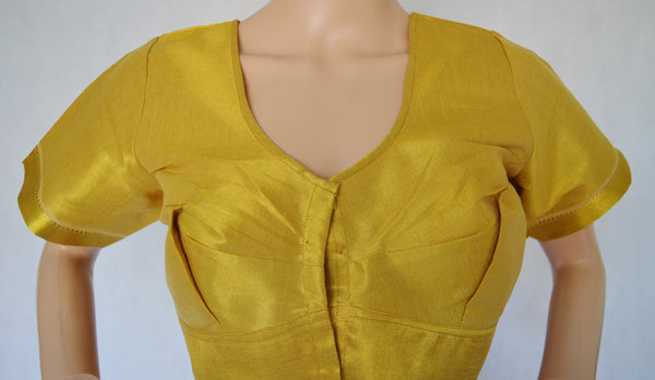 Gold Brocade Blouse Size 42