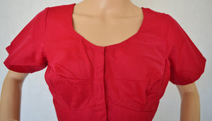 Raspberry Colour Kanchipuram Blouse Size 40