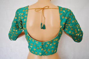 Turquoise Colour Readymade Blouse Size 38