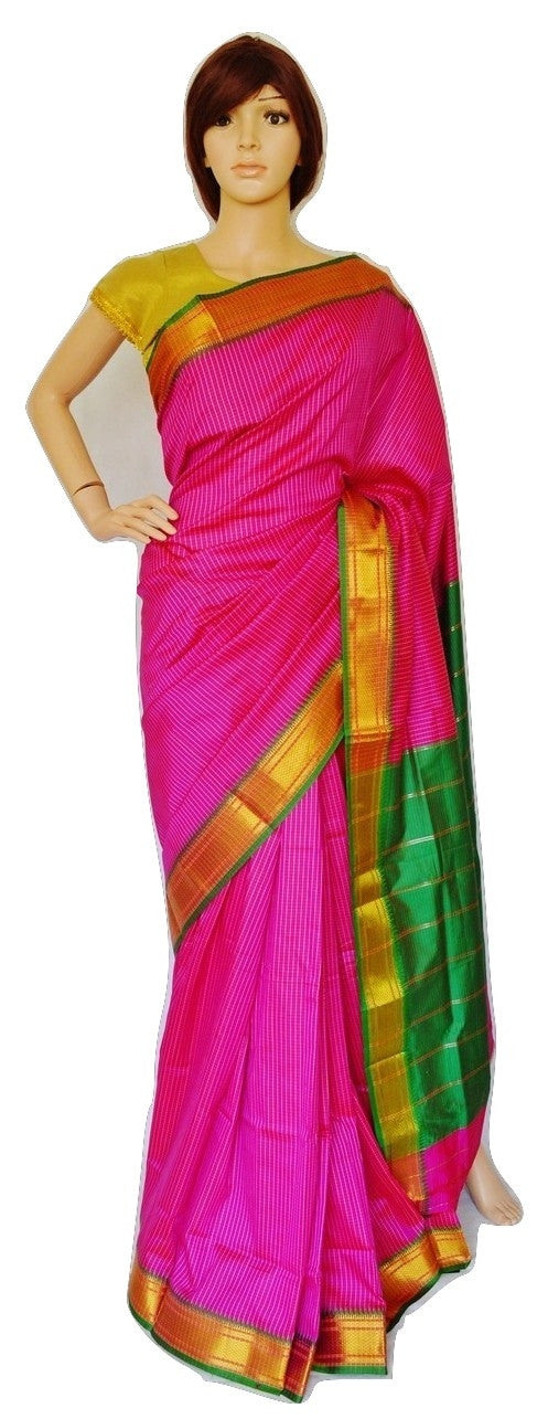 Lovely Magenta & Green Colour Art Silk Saree