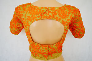 Gold Colour Readymade Blouse Size 38