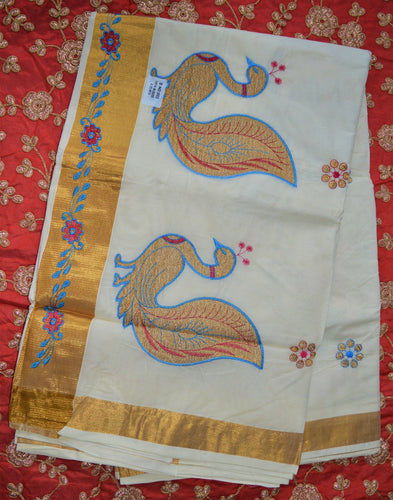 Gorgeous Pure Cotton Kerala sarees