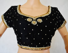 Black Colour Readymade Blouse Size 38