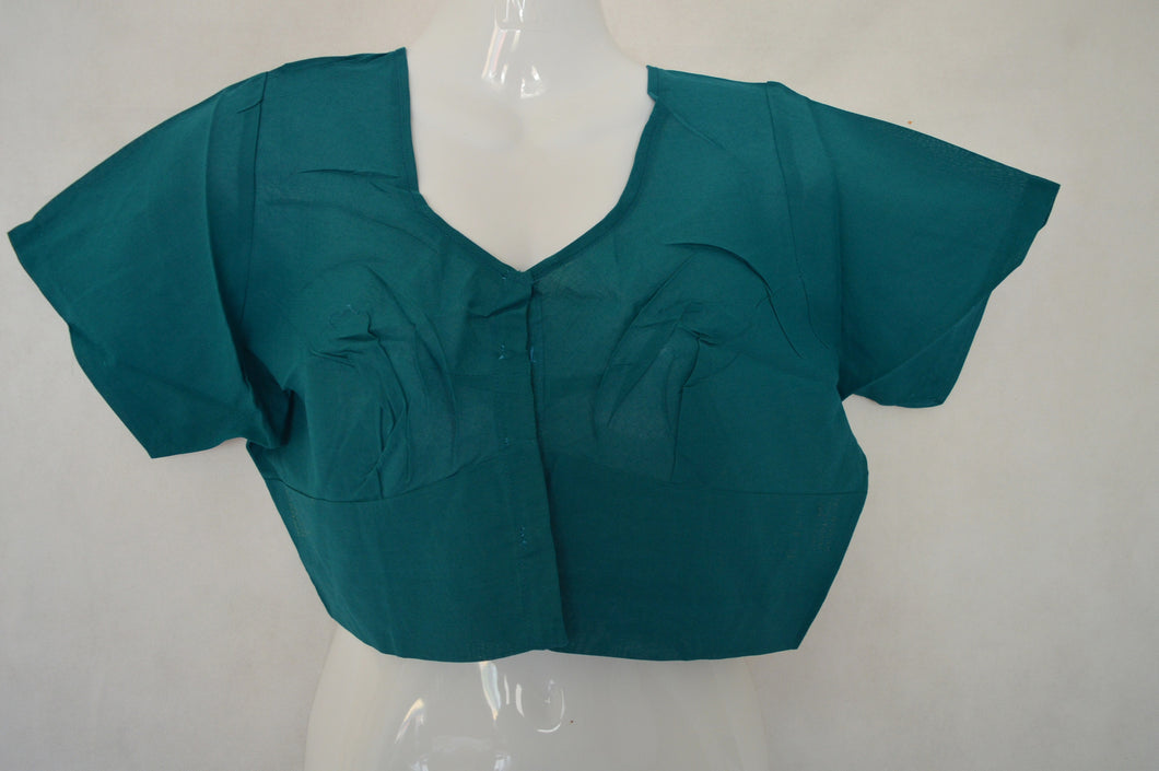 Turquoise Saree Blouse/ Top  Size 40