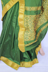 Pleasant Green & Gold Colour Silk Saree