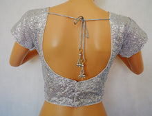 Ready made Silver Blouse / Choli Top 38