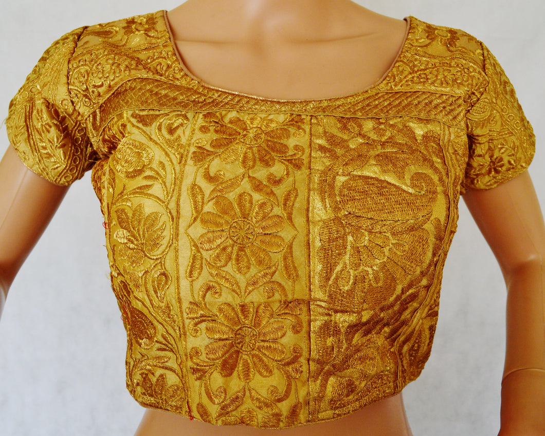 Gold Brocade Blouse Size 34