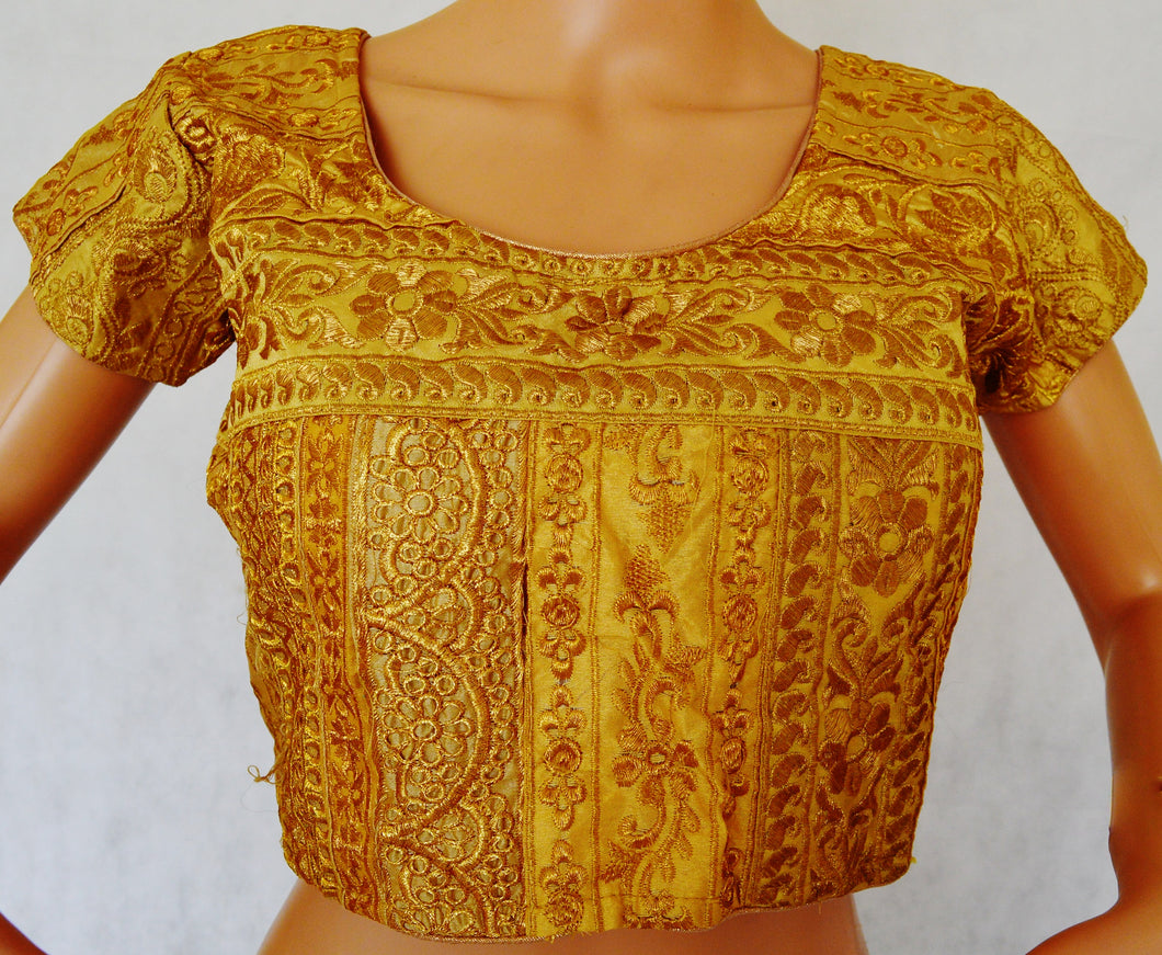 Gold Brocade Blouse Size 36