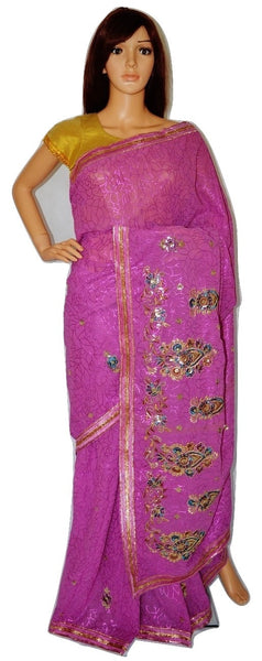 Georgette Aashiqui Saree With Attached Blouse Piece