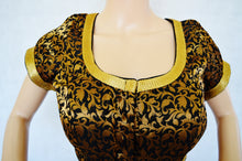 Black Brocade Blouse Size 40