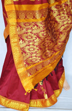 Beautiful Maroon  & Gold Colour Silk Saree