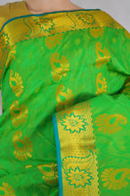Light green & Gold Colour Kanchipuram Silk Saree