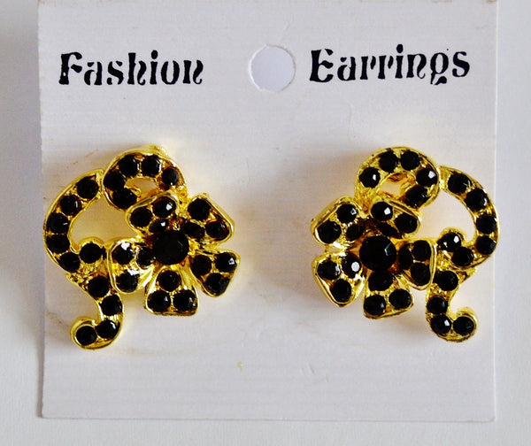Gorgeous Black Stones Earrings