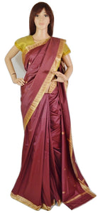 Lovely Bronze Colour Poly Silk Saree