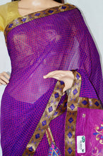 Purple & Pink  Colour Party Wear One Minute Saree