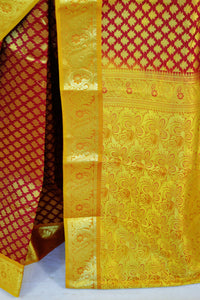 Bridal Wear Maroon Colour Kanchipuram Silk Saree