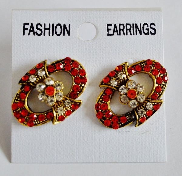Gorgeous Red Stones Earrings