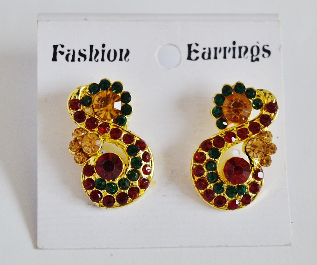 Gorgeous Green& Red Earrings