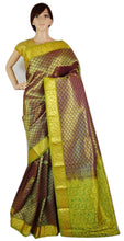 Bridal Wear Purple Colour Kanchipuram Silk Saree