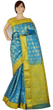 Bridal Wear Skyblue Colour Kanchipuram Silk Saree