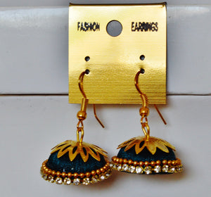 Hand Made Thread Work Earrings