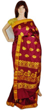 Lovely Mulberry  & Gold Colour Silk Saree